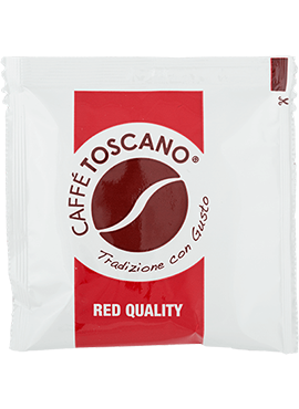 Кафе на Дози, Caffé Toscano, Red Quality, 7g. x 150бр. в кашон