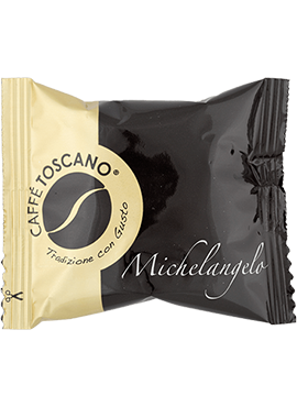 Кафе на Kапсули, Caffé Toscano, Segni d'Arte, Michelangelo, 7g х 100бр. в кашон
