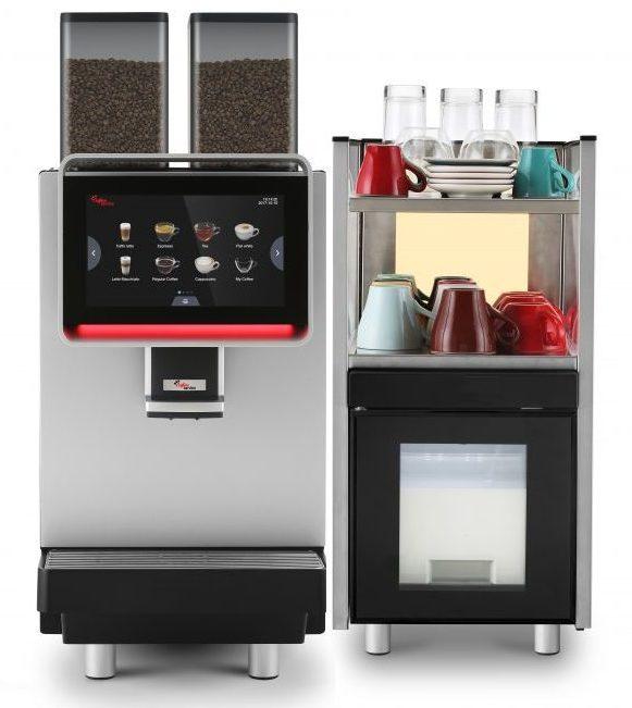 Комплект кафемашина с хладилник Dr. coffee CS2, Под наем