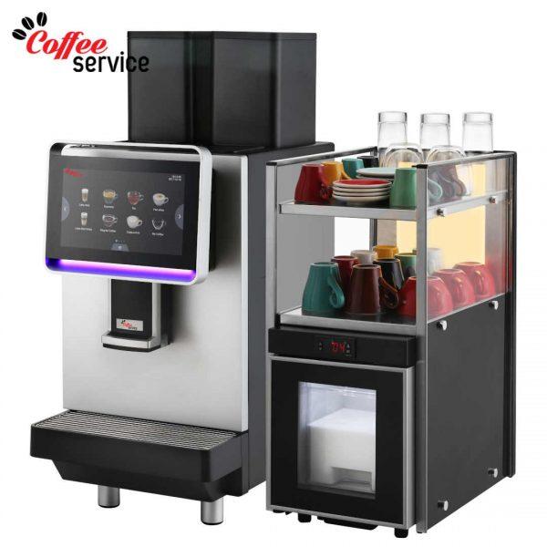 Комплект кафемашина с хладилник Dr. coffee CS2