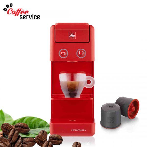 Кафемашина Illy Y3.2 iperEspresso - червена