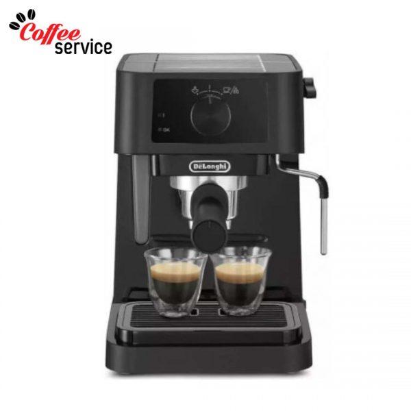 Комплект кафемашина Delonghi EC 230.BK + 12 кг. Stefanini Silver - 1
