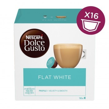 Капсули кафе, NESCAFÉ® Dolce Gusto® Flat White, x 16