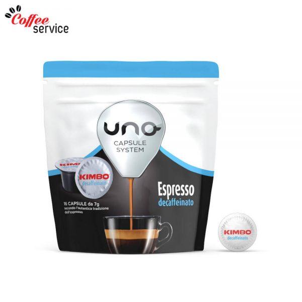 Kimbo Espresso Decaffeinato - UNO капсули x16