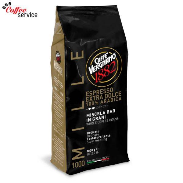 Caffé Vergnano Espresso Extra-Dolce на зърна 1000g