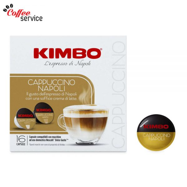 Kimbo Cappuccino Napoli - капсули, съвместими с Nescafé® Dolce Gusto®*