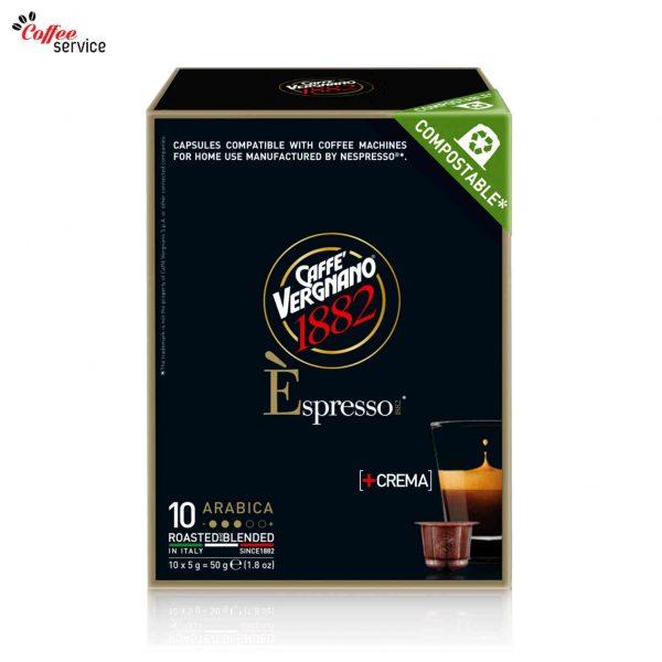 Vergnano E'spresso Arabica caps, съвместими с Nespresso®* x10