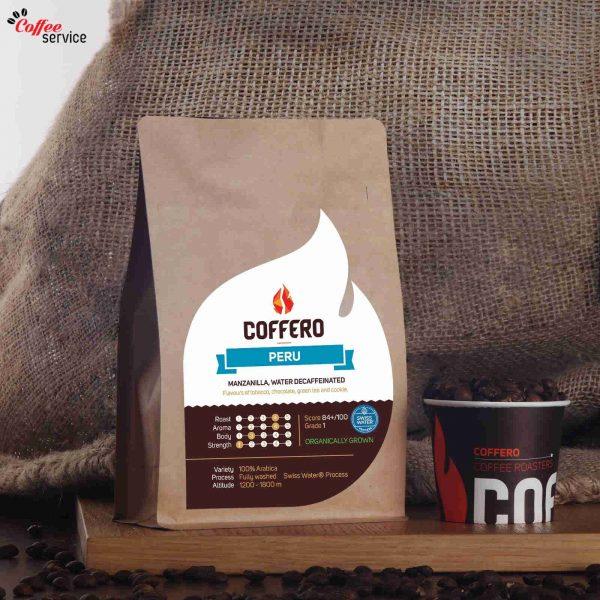 Кафе на зърна, Coffero, Перу Манзанила Безкофеиново, 0.250 кг.
