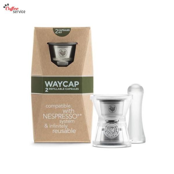 WAYCAP, капсули съвместими Nespresso за многократна употреба от неръждаема стомана, 2бр