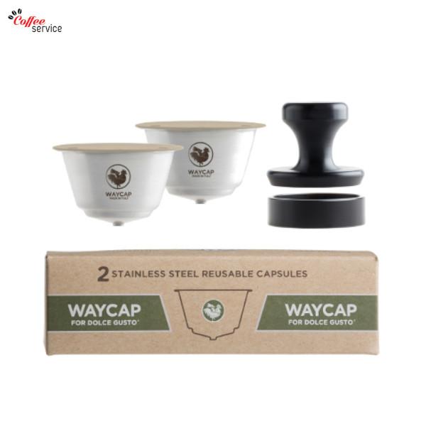 WAYCAP, капсули съвместими Dolce Gusto за многократна употреба от неръждаема стомана, 2бр